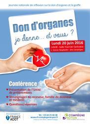 Le don d'organes, venez en parler le 20 juin !